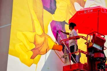 立邦「为爱上色」艺术+携手智利