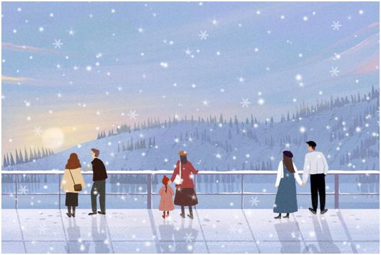 """小雪时节 我想和你一起看大明照明的""""雪"""""""